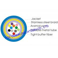 Quality Armored 12 core single mode fiber optic cable Distribution Type Tight Buffered With Braid wholesale