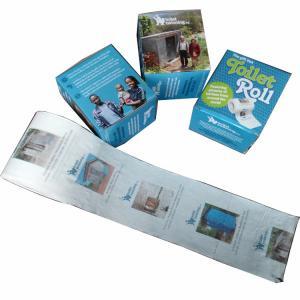 Quality toilet paper surabaya 2ply  250 sheets 100% virgin pulp printed toilet paper wholesale