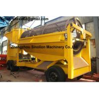 Small scale portable movable mobile gold trommel screen GTS-1200x2500 for sale