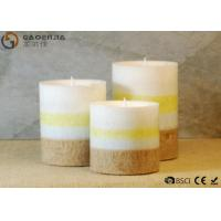 Cheap gaoerjia lovely 3 Set Flameless Battery Operated LED Pillar Candles for sale