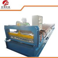 China Color Coated Steel Roll Forming Machine For Making 0.8 MM Thickness Wall Plate  on sale