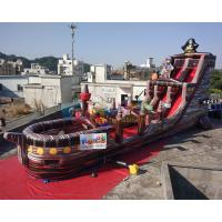 China 18m Inflatable Commercial Pirate Ship Slide  / Blow Up Water Slide on sale