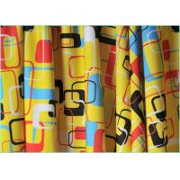 Quality 4 Way Stretch Warp Knitted Geometric Design Fabric / Printed Spandex Fabric  1.5m*220gsm wholesale