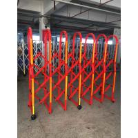 China Aluminium Alloy Red Colour Safety Barrier Gate For Crowd Control With 3M Reflective Tapes on sale