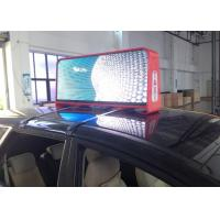 Double - sided Advertising Taxi LED Display Ph5 mm with 192 x 64 dots and 3G 4G WiFi Remote Controlling