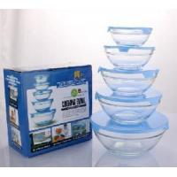 Quality 5PCS Set Glass Storage Bowl with PP Lid wholesale