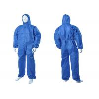 China Chemical Resistant Disposable Hooded Coveralls , Flame Retardant Disposable Coveralls on sale