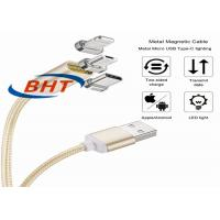 Quality Fast Speed Magnetic USB Cable , Magnetic Charging Adapter For Micro Usb Cable wholesale