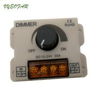 Quality 30A LED Dimmer 12V 24V 720W Big power For Led Single Strip Switch Knob controller wholesale