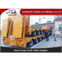 Quality 80 ton Gooseneck low loader Low Bed Tractor truck trailer sale Hydraulic ramp wholesale
