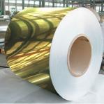 Quality Golden Painted Aluminium Coil / Mirror Finish Aluminium Sheet Coil 8011 wholesale
