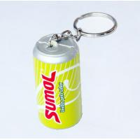 China beverage can shaped stress ball with keychain on sale