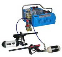 Quality 3.0kw 4hp electric powered scuba air compressor , 20 minutes for 6L tank wholesale