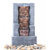 Quality Stone Step 3 Tier Outdoor Fountain , Exterior Water Fountains In Granite Color wholesale