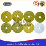 Quality 100mm Diamond Wet Polishing Pad / Polishing Discs For Granite Marble Products wholesale