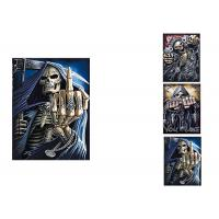Quality 3 Images Scary Skull Heads 3D Lenticular Flip 30x40cm For Home Decoration wholesale