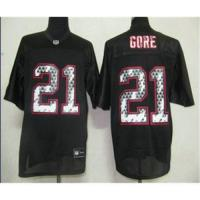 Quality NFL San Francisco 49ers 21 Gore Black United.jpg wholesale