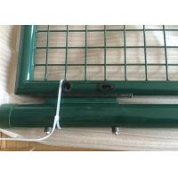 Quality Double Steel Garden Gate , powder coated round post garden gate Low carbon steel wire wholesale