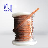 Quality 0.5 X 2700 PET Covered Profiled Flat Litz Wire For Transformer , High Cut Through wholesale