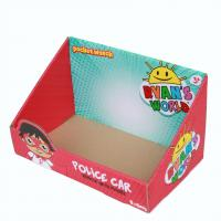 China Product Corrugated Packaging Box Display Stands CYMK Color Non Lids For Supermarket on sale