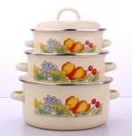 Quality Enamel casserole 3pcs set  16/18/20cm wholesale