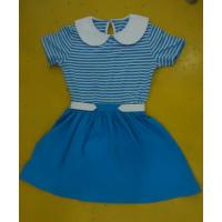 Quality Blue Striped Children'S Cotton Pajamas Matching Brother Sister Clothes wholesale
