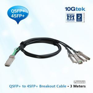 Quality QSFP+ to 4 SFP+ Copper Breakout Cable 3m, Passive (QSFP-4SFP10G-CU3M ). For Cisco, Arista, Juniper, Force10 wholesale
