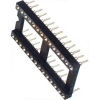 Quality IC Socket 2*14P DIP Round Pin Header 2.54mm Row of Pitch 10.16 for PCB board wholesale
