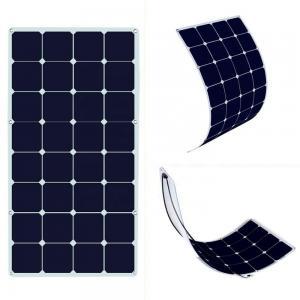 China Photovoltaic Thin Flexible Solar Panels SunPower 12v-18V 100-120w Easy Installation on sale