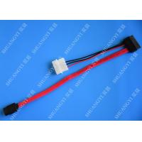 Quality SATA 3.0 6Gbps SATA Data Cable , 4 Pin IDE LP4 Power SATA Cable Length 40cm wholesale