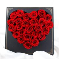 Quality Forever Luxury Preserved Roses , Flower Heart Box For Wedding Gift wholesale