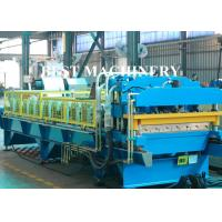 China Color Coat Metal Glazied Roof Tile Roll Forming Machine 4m/min - 6m/min Speed on sale