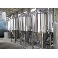 Cheap Dish Top Stainless Steel Conical Fermentation Tanks 2 - 5mm Thickness for sale