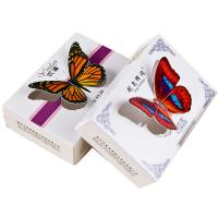 China Die cut butterfly design handmade ivory paper color printing soap packaging box on sale