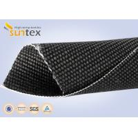 Quality Heavy Duty Welding Protection Blanket Fiberglass High Temperature Fabric Cloth 2.6mm Graphite Coated wholesale