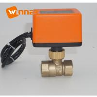 Quality On / Off Mini Electric Ball Valve Various Color Stopping In Any Position wholesale