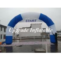 Buy cheap 2015 new desgin round Inflatable start line and finish line arch with removable banner from wholesalers