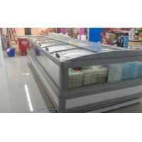 China Supermarket 5m Double Side Island Display Freezer Remote Cooling System on sale