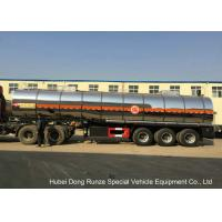 Quality SS Chemical Tanker Truck For Ammonium Nitrate / Liquid Molten Sulfur Delivery wholesale