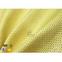 Quality 1500D 305gsm Yellow Kevlar Aramid Fabric For Bulletproof Vest TDS Approval wholesale