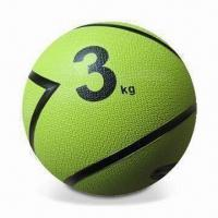 China Medicine Ball, Made of Natural Rubber, Available in Various Sizes and Designs on sale