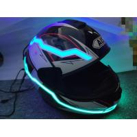Quality 2019 new design custom  hot sale popular glow in the dark LED light up motorcycle helmet tape super cool look for motor wholesale