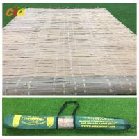 China Summer Outdoor Furnitures Bamboo Sleeping Mat Raffia Grass Tied With Carrying Bag on sale