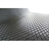 Quality Black Industrial Checker Rubber Sheet , Round Button Diamond Rubber Sheet wholesale