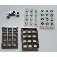 Quality Industrial audio phone metal keypad parts with keys, silicone and frame for Taiwan wholesale