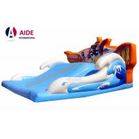 Quality Wide Children Blow Up Water Slide , Childrens Outdoor Playsets With Pirate Logo wholesale