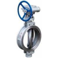 China Wafer Type Butterfly Valve End Connection Pneumatic Actuator DN300-DN800 on sale
