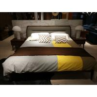 Cheap 2017 New design of  Doube / King bed Interior Fitment for Apartment Furniture by Walnut wood from China factory for sale