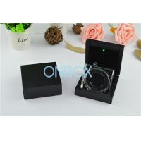 Quality Luxury Painting Wooden Boxes LED Coin Display Box With Acrylic Display Stand wholesale