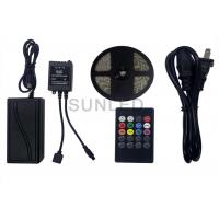China RGB Smd 5050 Led Rgb Flexible Strip Lights Dc12v 300 Leds With 24 Keys Music Controller on sale